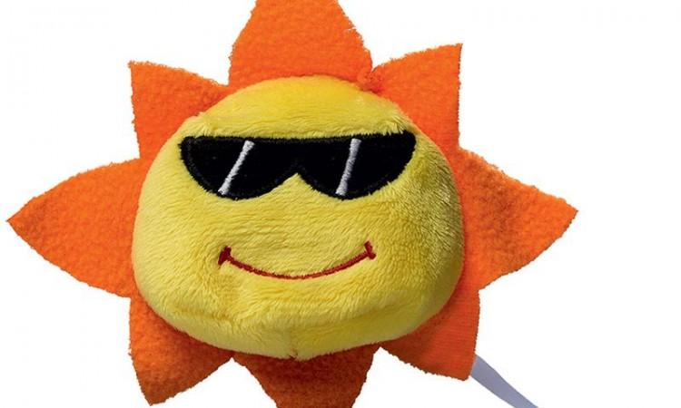 Peluche soleil jaune Devant 60509